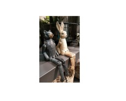 kanin hare björn trä