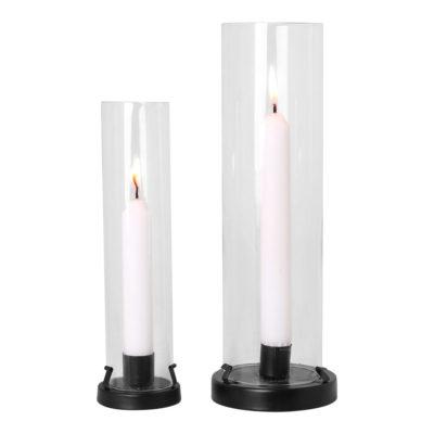 kallaxgardsbutik-ljuslykta-svart-metall-glas-kronljus-stearinljus