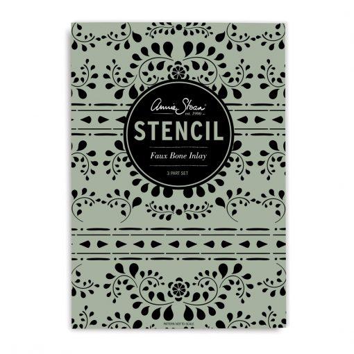 Faux-Bone-Inlay-Stencil-Front-schablon-annie-sloan-chalk-paint-mala-mobler-vaggar