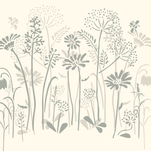 Meadow-Flowers-Old-White-and-Paris-Grey-schablon-Annie-Sloan-Chalkpain-angsblommor-mala-mobler-tapet-vagg
