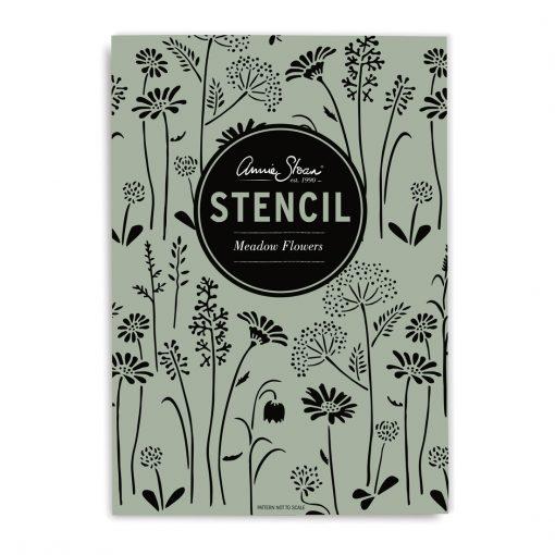 Meadow flower schablon stencil