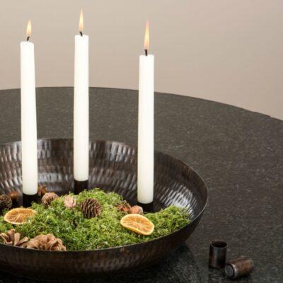 ljushallare-ljusstake-magnet-bricka-kronljus-mork-brun-adventsljusstake-