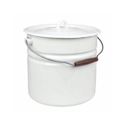 emaljerad -hink-kompost-sophink-skurhink-vit-offwhite