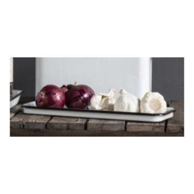 emaljerat-serveringsfat-bricka-upplaggningsfat-vit-svart-ute-kok-stilleben